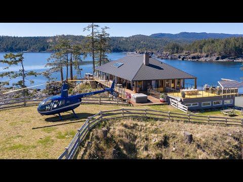 $5.3 Million Luxury Waterfront Property on Private Peninsula | Quadra Island, Vancouver Real Estate