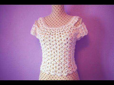 Crochet  blouse for women MAJOVEL CROCHET