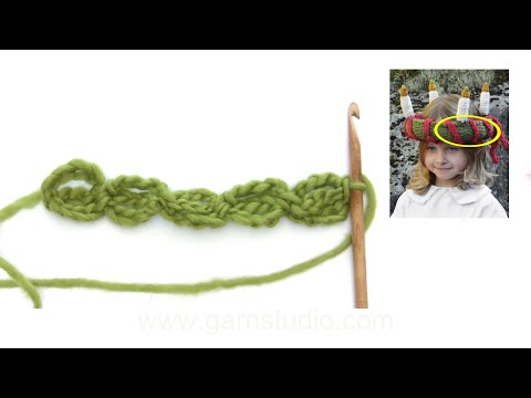 How to crochet the ties in DROPS Extra 0-1199