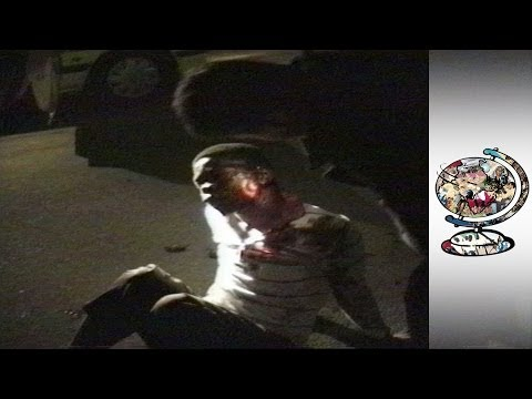 Brutal night time policing in Apartheid-era Soweto (1990)