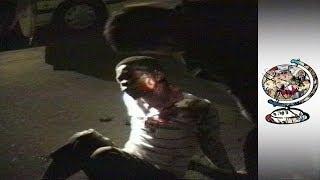 Brutal night time policing in Apartheid-era Soweto (1990)