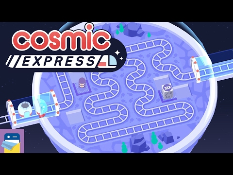 Cosmic Express: iOS / Android / PC Gameplay (by Draknek Limited)