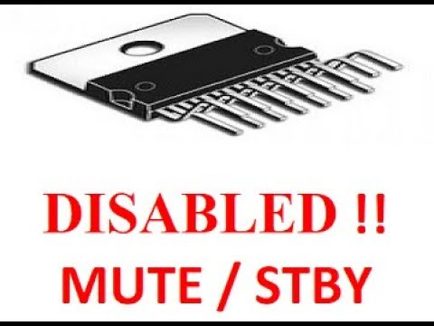 TDA7294 MUTE - STBY Problem Solved !!