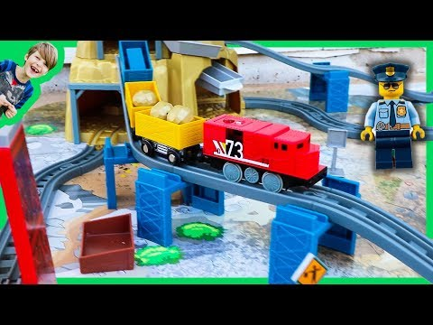 Trains For Kids - Unboxing Gold Mountain RC Toy Train Set + Lego Minifigures!