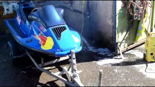 THE RED BULL SEA DOO XP RUNNING AFTER FULL RE BUILD AND CUSTOM CDI INSTALL
