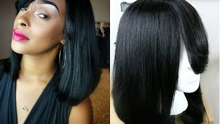 Watch Me Make A Full Wig (No Closure) AND Cut & Style It | Janet Collection Aria 100% Human Hair