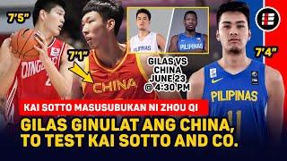 "GILAS GINULAT ANG CHINA, 7""4"" KAI SOTTO AND COMPANY TO BE TESTED BY ZHOU QI AT 7'5"" LIU CHANGXING"