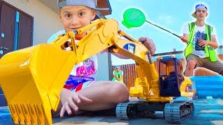 Экскаватор #Bruder поломался Алекс заказал на помощь Новый Экскаватор #Машинки для мальчиков