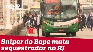 Atirador do BOPE mata sequestrador de ônibus na Ponte Rio-Niterói