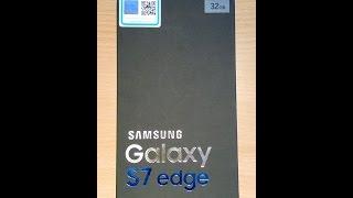 Samsung Galaxy S7 Edge Blue Coral Duos Unpacking!!!