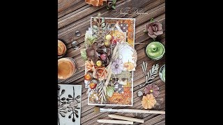 Step-by-Step tutorial Autumn mixed-media card with alcohol inks/