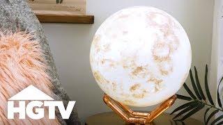 Easy DIY Moon Lamp - HGTV