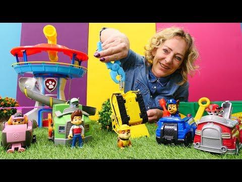 Nicoles Spielzeug Werkstatt - Die Paw Patrol braucht Hilfe - Video für Kinder