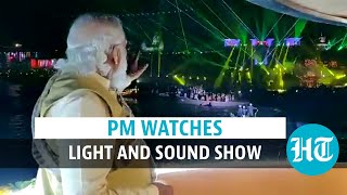 Watch: PM Modi watches sound and light show at Sarnath Archaeological site