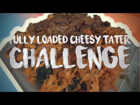 FULLY LOADED CHEESY TATER CHALLENGE | Ft. RANDY SANTEL & MICHAEL JENKINS