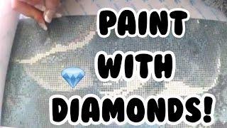 How to 5D DIAMOND PAINTING Tutorial and Demo! | DIY NINJA