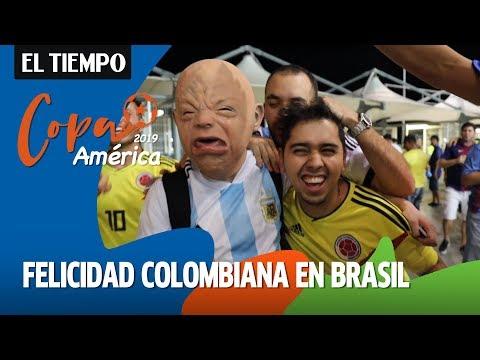 Alegría colombiana en Brasil por la victoria de la Selección Colombia |EL TIEMPO