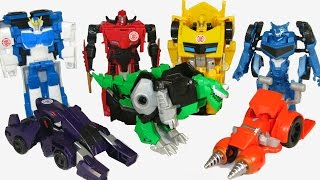 TRANSFORMERS ROBOTS IN DISGUISE 1 STEP ACTION FIGURES BUMBLEBEE SIDESWIPE STRONGARM PROWL