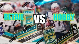 2018 Donruss Elite Football Retail Vs Hobby