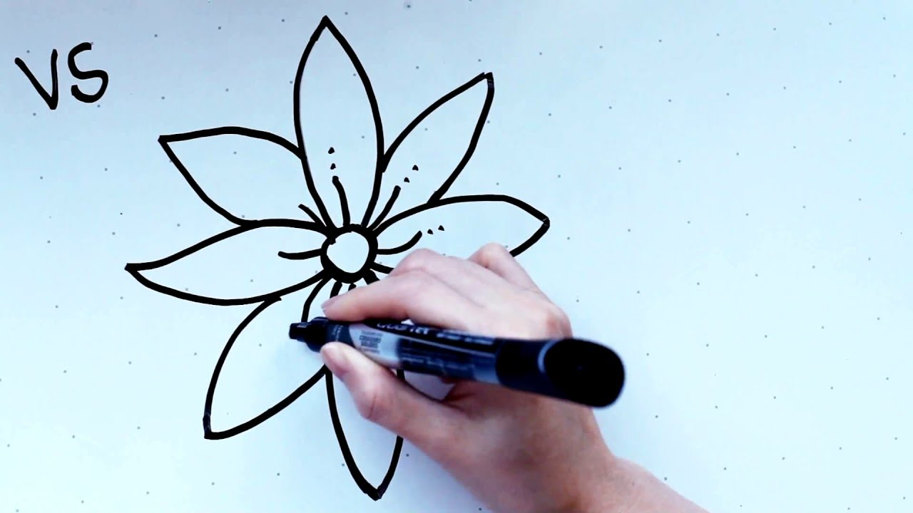 18 Kids Tutorial How to Draw a Flower B in 2 Minutes