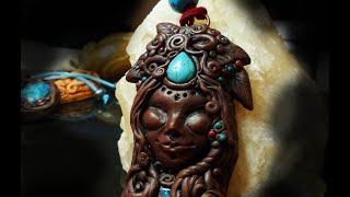 Polymer Clay (06) Pendant tutorial - Mother Earth Goddess