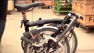 How a Brompton fold-up bike is built in 2 mins