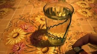 Горение пиротехнического фитиля в воде