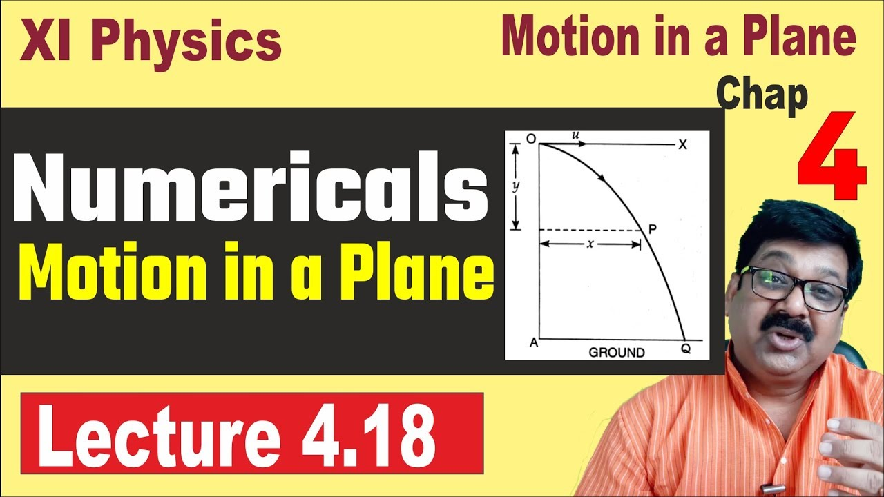 Numericals, Motion in a Plane, Class 11 Physics Chapter 4