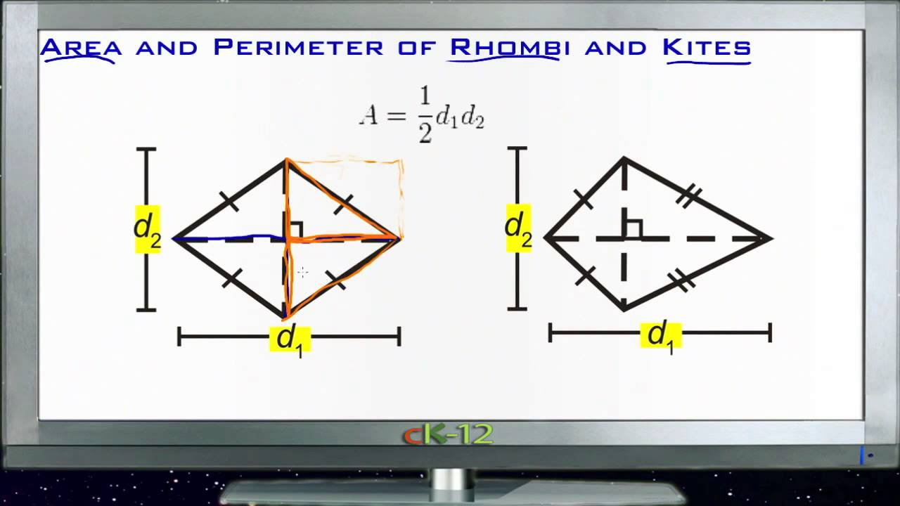 Area And Perimeter Of Rhombuses And Kites: Lesson (basic Geometry Concepts)