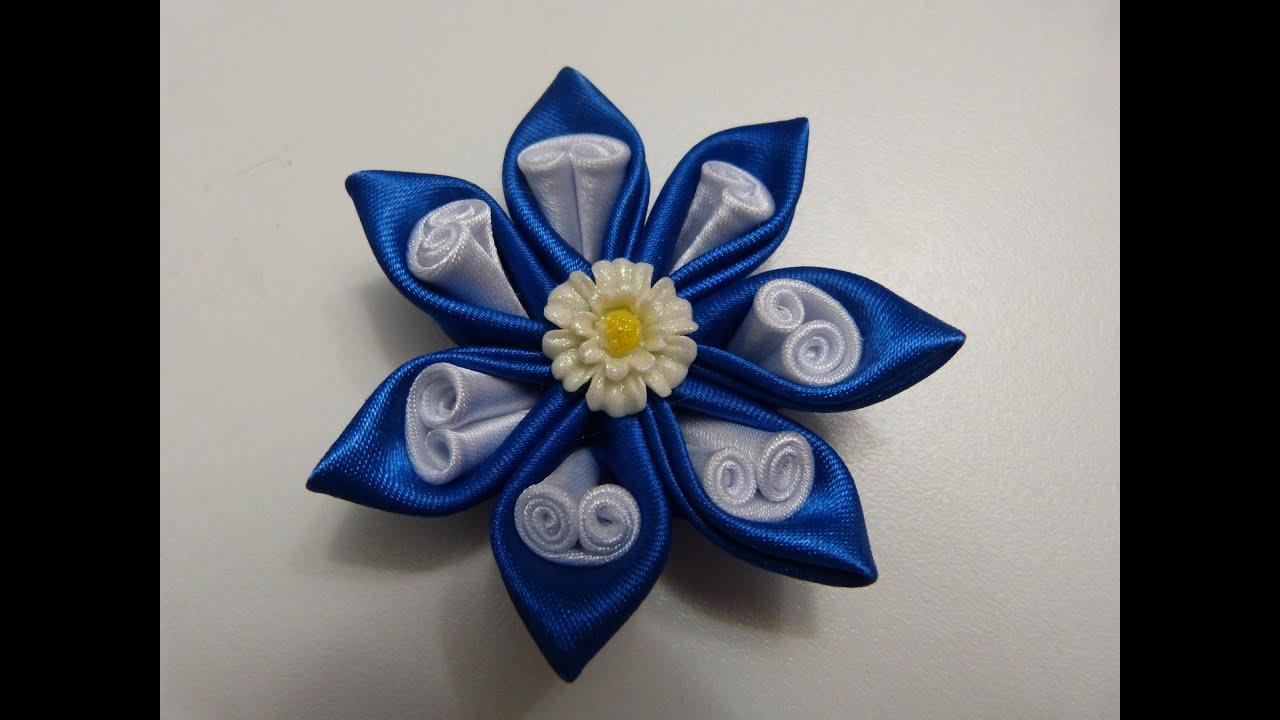 Como hacer flor de tela flor de tela f cil easy hair - Manualidades con lazos ...