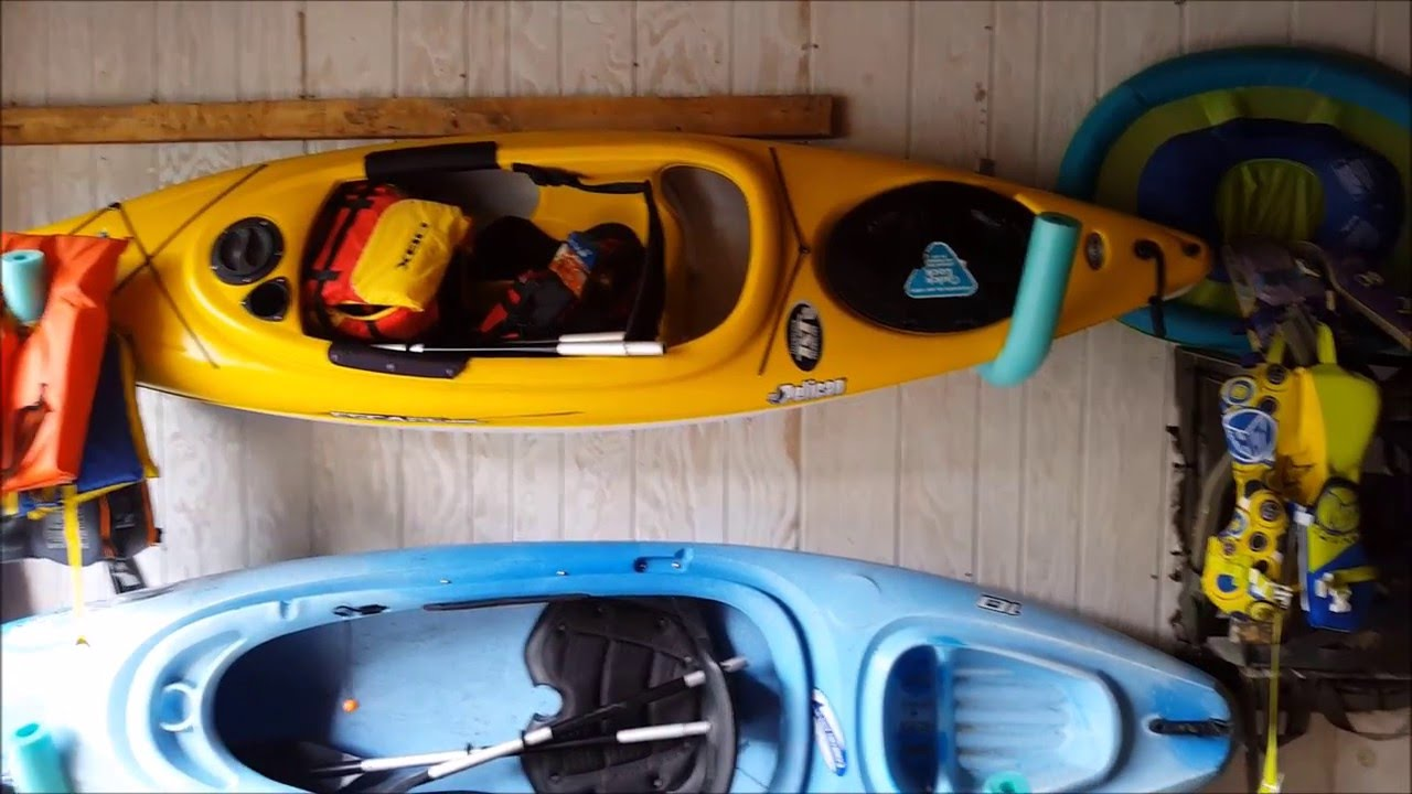 Kayak Wall Hanger >> Diy Kayak Wall Hanger Kayak Storage