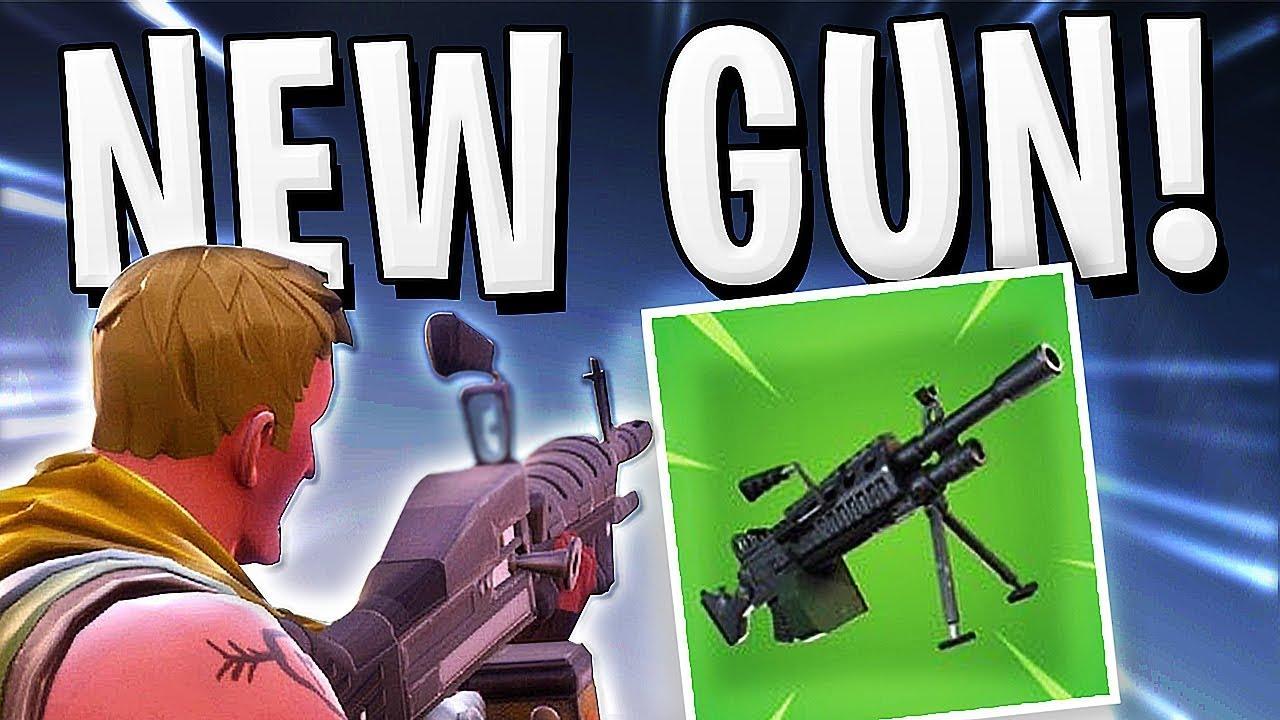 Fortnite - NEW GUN LEAKED LMG HOW TO GET !!