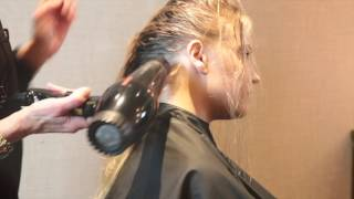 Blow out with Davines Oi Oil