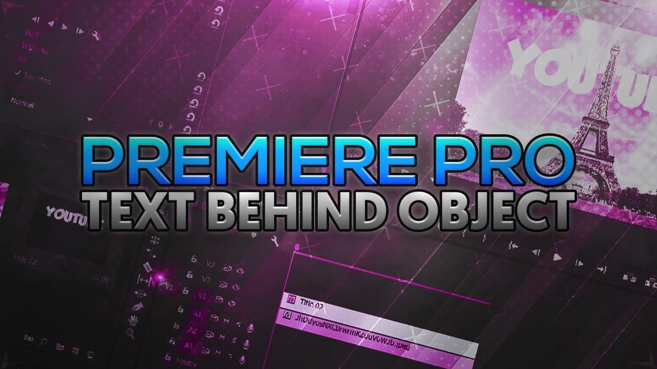 how to make text appear from behind object premiere pro