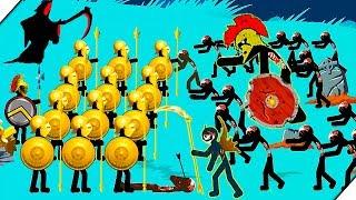 ЗОЛОТАЯ АРМИЯ против  ЗОМБИ - Stick War Legacy zombie mode # 4