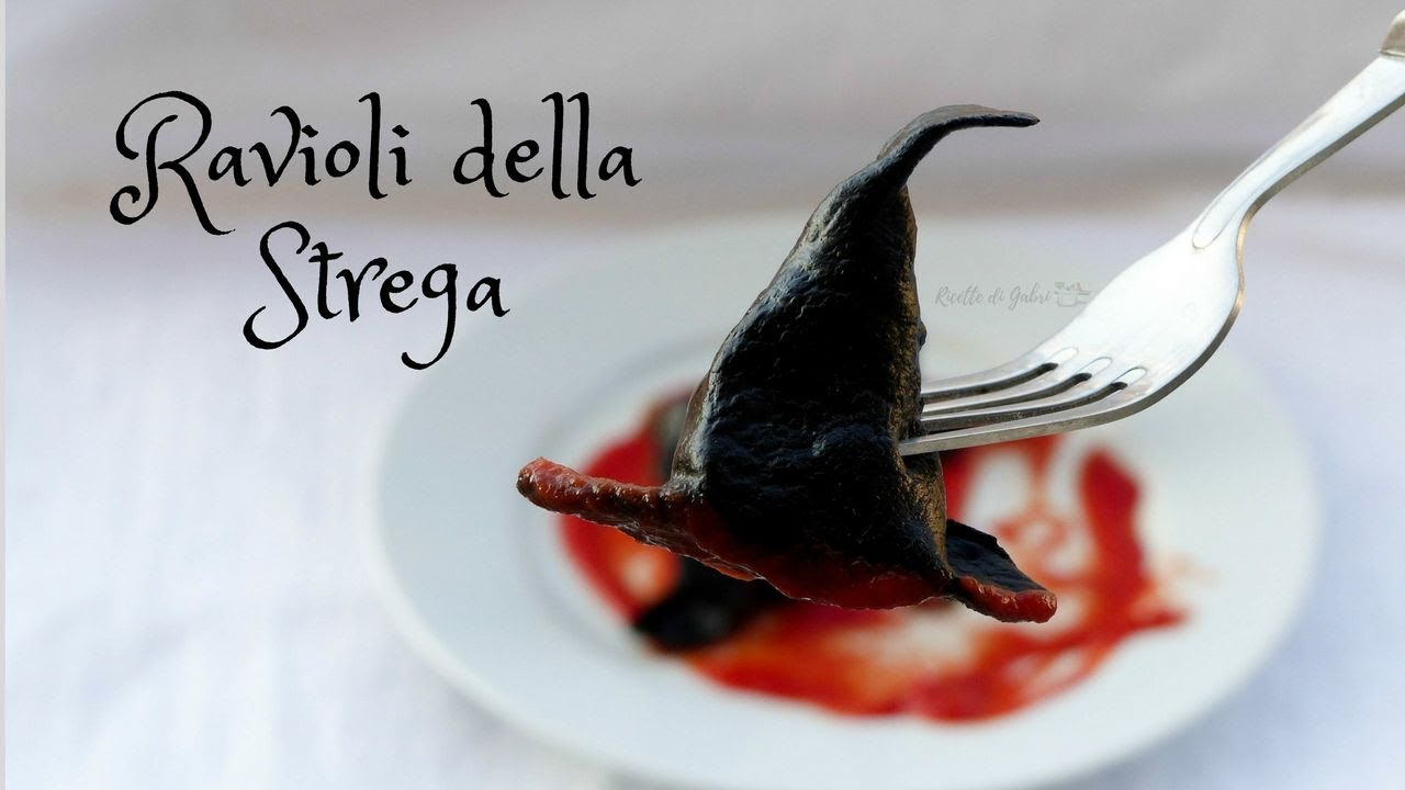 RICETTA HALLOWEEN   Ravioli cappelli di strega- RICETTE DI GABRI Kitchen  Brasita 6e1d0d77b196