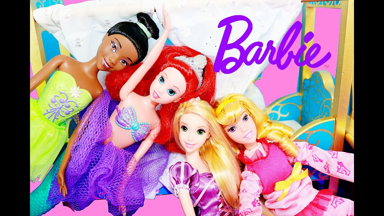 Uncategorized Princess Videos Disney disney princess barbie doll videos collection ariel mermaid aurora tangled rapunzel tiana frog youtube