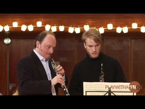 Oboe lessons with Leleux,  Schumann Romances, Play With A Pro