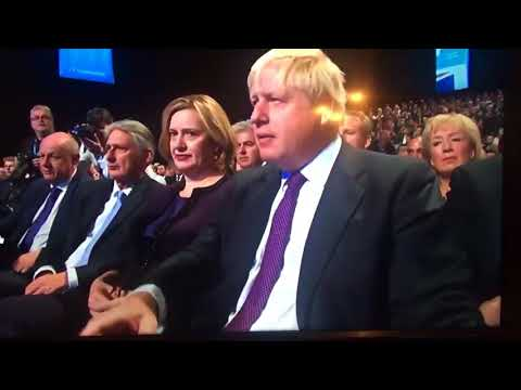 Lee Nelson Giving Theresa May A P45 From Boris Johnson 04 10 17