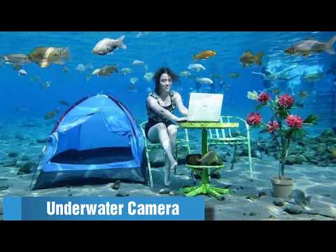 EPIC SELFIES at Umbul Ponggok UNDERWATER ATTRACTION - Central Java - Indonesia