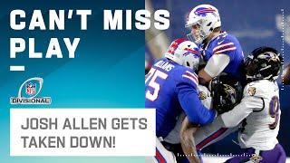 Ravens Strip Sack Josh Allen on Big 3rd Down Loss