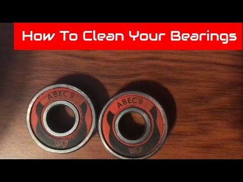 How to clean your skate bearings