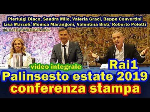 Palinsesto estate 2019 Rai1: conferenza integrale con Diaco, Convertini, Milo