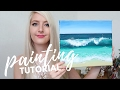 PAINTING TUTORIAL Acrylic Ocean for Beginners Katie Jobling Art