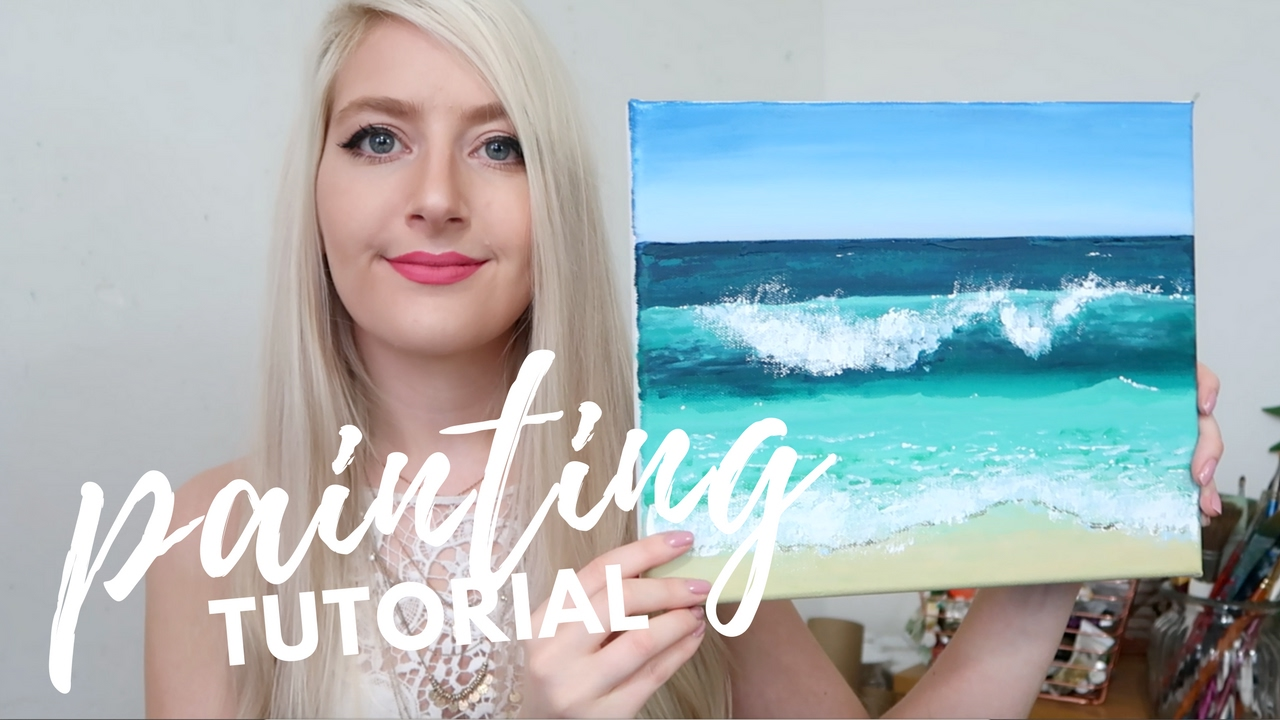 Painting Tutorial With Acrylic For Beginners Katie Jobling Art