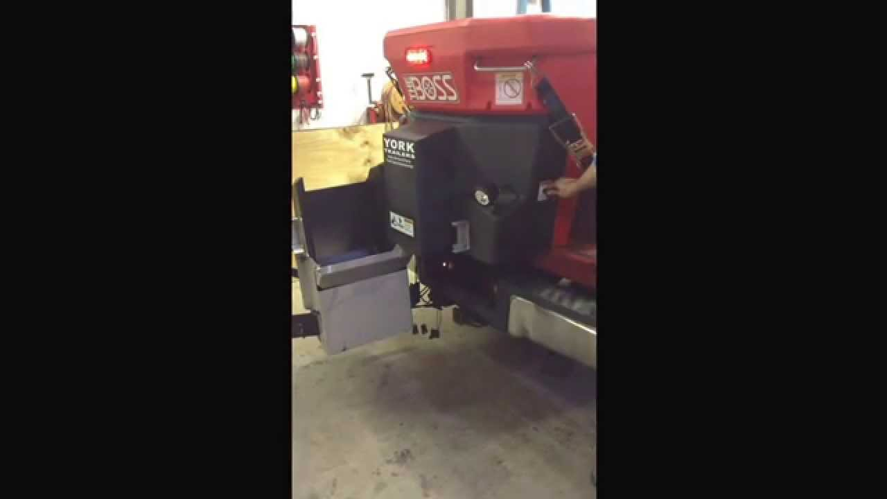 Overview Of A Boss Salter Installed By York Trailers Youtube