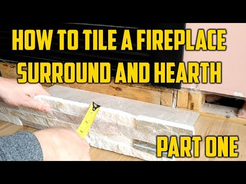 How to Tile a Fireplace Surround and Hearth... One