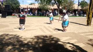 NM Sate Fair  2018 Indian Village Fernando Celicion  - Zuni Dancers - Deer Dance MOV 0810