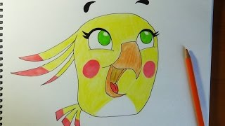 How to draw Angry birds Stella - Poppy, Como dibujar Angry birds, Как нарисовать Angry birds