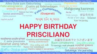 Prisciliano   Languages Idiomas - Happy Birthday